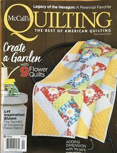 McCalls Quilting Magazine Mar/Apr 2019  9 Flower Garden Quilts SPRING!
