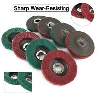 4.5'' Nylon Fiber Flap Wheel Scouring Pad Abrasive Buffing Disc Angle Grinder
