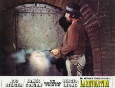 ROD STEIGER JAMES COBURN A FISTFUL OF DYNAMITE 1972 3 VINTAGE LOBBY CARDS LOT