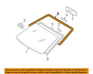 Scion TOYOTA OEM 05-10 tC Windshield-Reveal Molding 7553321041