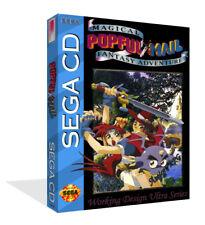 Popful mail locale CD DI RICAMBIO SPARE GAME CASE + BOX-ART WORK COPERTINA nessun gioco