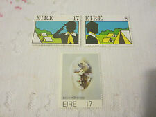 IRELAND 1977 MINT N H 2 SETS OF 3 STAMPS SG 408-410 ART/SCOUTS 18/034