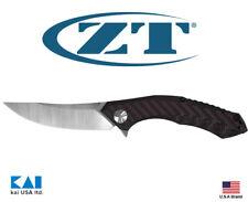 "Zero Tolerance ZT0462 Knife 3.7"" CPM20CV Blade Red Carbon Fiber Composite Handle"