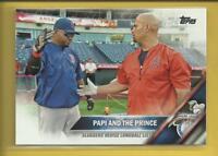 David Ortiz Albert Pujols 2016 Topps Series 1 Card # 126 Boston Red Sox Angels