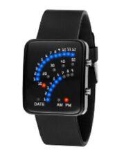 Quality Binary Wrist Watch Digital Car Dash Board Theme LED Sport FLT Black UK