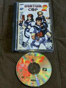 Virtua Cop 2 Sega Saturn SS Complete in Case Authentic Nice