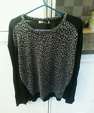 BNWT Oasis Ladies Xmas festive stretch jumper blouse top size S