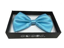 Light Blue Men Women Bowtie Classic Clip-On Neck-wear Tuxedo Adjustable