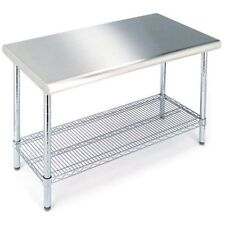 Seville Classics Commercial Stainless Steel Top Worktable W