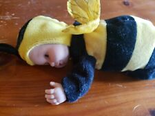 Vintage 1997 Anne Geddes Bumble Bee Baby Doll Plush Vinyl Collectible