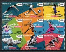Indonesia 2018 MNH Asian Games 9v Block Judo Football Swimming Sports Stamps