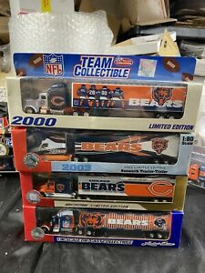 Chicago Bears Limited Edition Team Collectible Tractor-Trailer Lot Of 4