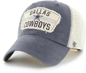 Dallas Cowboys Hat '47 NFL Football Blue White Mesh Vintage Snapback Trucker Cap