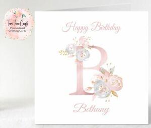 Personalised Birthday Card Mum, Grandma, Granddaughter,Friend,Sister,Female,Girl