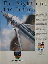 7/1989 PUB PILKINGTON OPTRONICS IR SENSOR FIRST INFRA RED SEARCH TRACK EFA AD