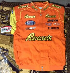 04' Kevin Harvick #21 Reese's Cup Racing Chase Authentic Twill Jacket Size L NWT