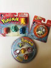 Vintage Collectible Pokemon 5 Rings, 4 Erasers, 1 Power Bouncer Lapras #131
