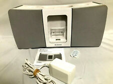 Boombox Portable Music System Dock Made for iPod w/Remote Brookstone 623405