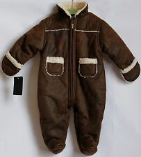 Juicy Couture Baby Snowsuit, Distressed Faux Leather, size 9M
