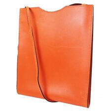 HERMES Onimaitou Pochette Shoulder Bag Orange Vintage Authentic #3770