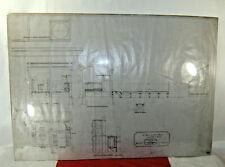 The CHICAGO MILWAUKEE and ST. PAUL Railway Blueprint Oil House 1886