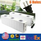 6 Site Hydroponic Growing Kit Square Pump Baskets Strawberry Tomato Plant System