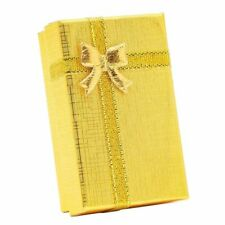 24x Jewelry Gift Boxes with Ribbon Bowknot for Weddings, Paper Gold 2 x 3.2 inch