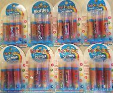 Lot of 8 Tropical Skittles Lip Smacker Lip Moisture (3 Piece) Collections #844