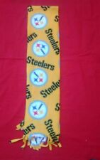 NFL PITTSBURGH STEELERS  FLEECE SCARF YELLOW APPROX 60 X 6 UNISEX  HANDMADE
