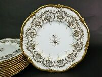 "(1) Only COALPORT "" Kings Plate "" Bone China Dinner Plate 10 1/2"" England"