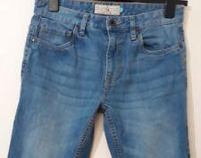 Mens next skinny slim faded blue denim jeans size W30 L32  ( bx234)