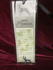 New, Russ Berrie & Co Purebred Puppies Boston Terrier Dog Pin & Bookmark, New