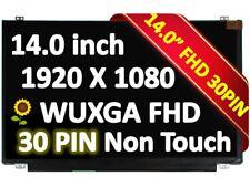 "New 14.0"" Fhd Ips Uwva Display Screen Panel Matte For Compaq Hp Sps L13836-001"