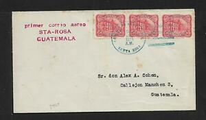 GUATEMALA FIRST FLIGHT AIRMAIL COVER STA ROSA 1926 SCARCE