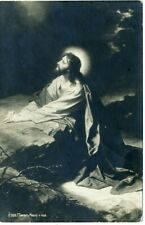 1910s Agony in the Garden of Gethsemane Jesus Antique Russian postcard