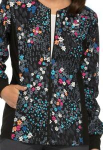 Scrubs Zip Front Knit Panel Warm-Up Jacket Meadow Breeze 2315C MEBR Size 4XL