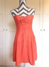 NWT Parker Orange Creamsicle Silk Dress Size L