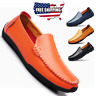 US Men's Casual Driving Moccasins Shoes Genuine Leather Loafers Slip on Flats
