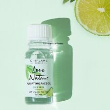 ORIFLAME LOVE NATURE PURIFYING FACE OIL ORGANIC TEA TREE & LIME oily skin pores
