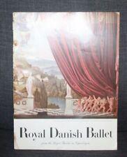 Vintage 1956 Opera Program Royal Danish Ballet Metropolitan Opera House