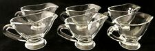 6 Individual Serving Clear Glass Gravy Sauce Boats