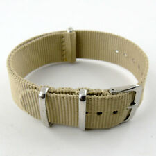 20mm watch strap color stripes men's watches nylon with silver buckle