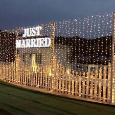 6x3m 600led WAM White Curtain String Lights Waterproof Wedding Party Xmas Decor