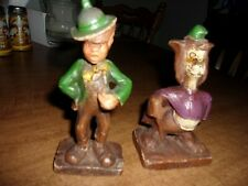 1940s Disney Pinnochio Figurines Lampwick and Giddy Syrocco Wood