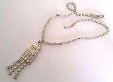 Collier bijou vintage couleur argent cristaux diamant swarovski * 3880