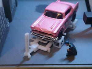 Custom 1/64 Scale Car Repair Jig System Garage Equipment Diorama Hot Wheels