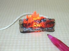 Miniature Logs and Flames for DOLLHOUSE Fireplace #1 12volt 1:12 Scale
