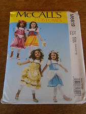"""PATRON  """"McCALL'S 4 COSTUMES PRINCESSES FEES  T 3 A 8 ANS N°6619"""