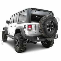 Full Width HD Rock Crawler Rear Bumper+Hitch Receiver fit 18-19 Jeep Wrangler JL