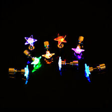 Heart / Star Shape LED Flashing Light up Earring Glow in Dark Drop Pendant Studs